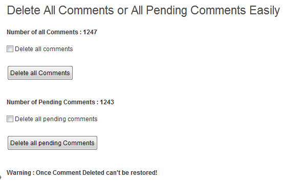 Delete All Comments Easily